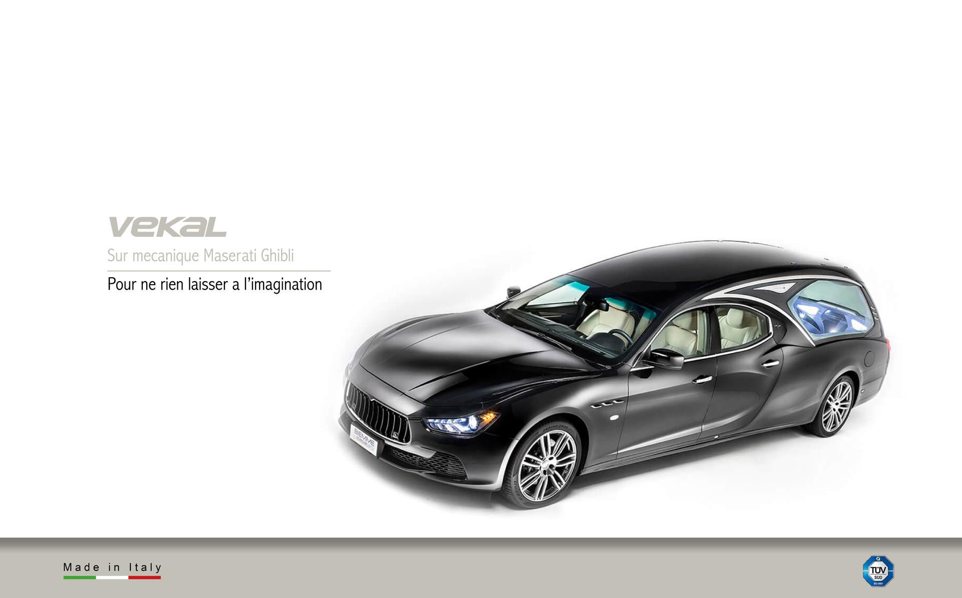 Corbillard sur mecanique Maserati Ghibli