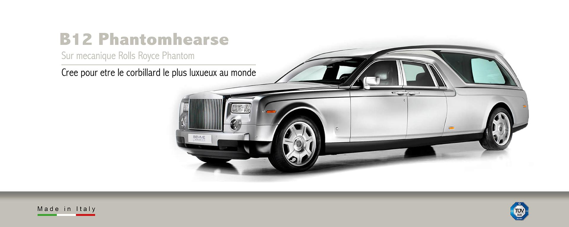 Corbillard sur mecanique Rolls Royce Phantom