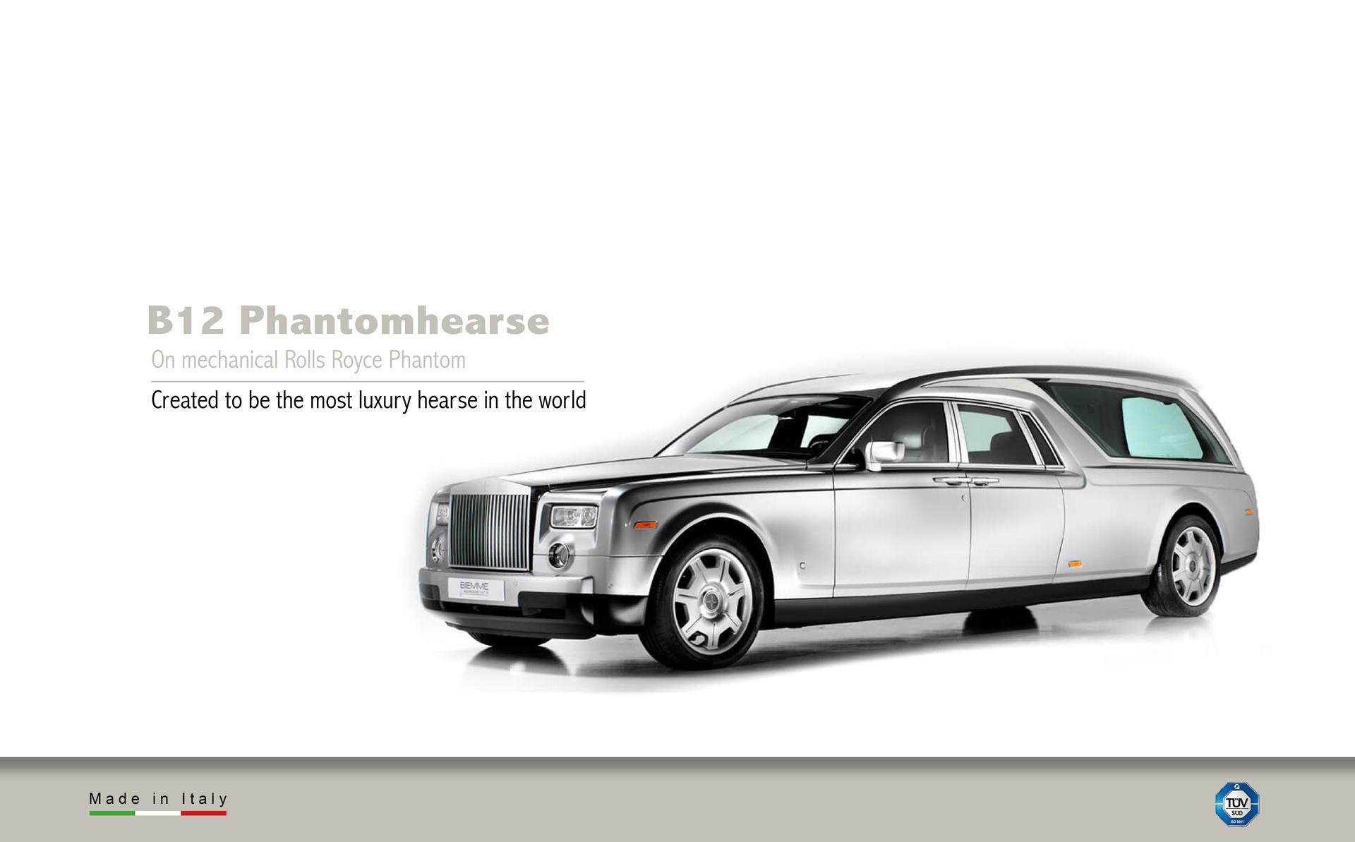 hearse on mechanical Rolls Royce Phantom