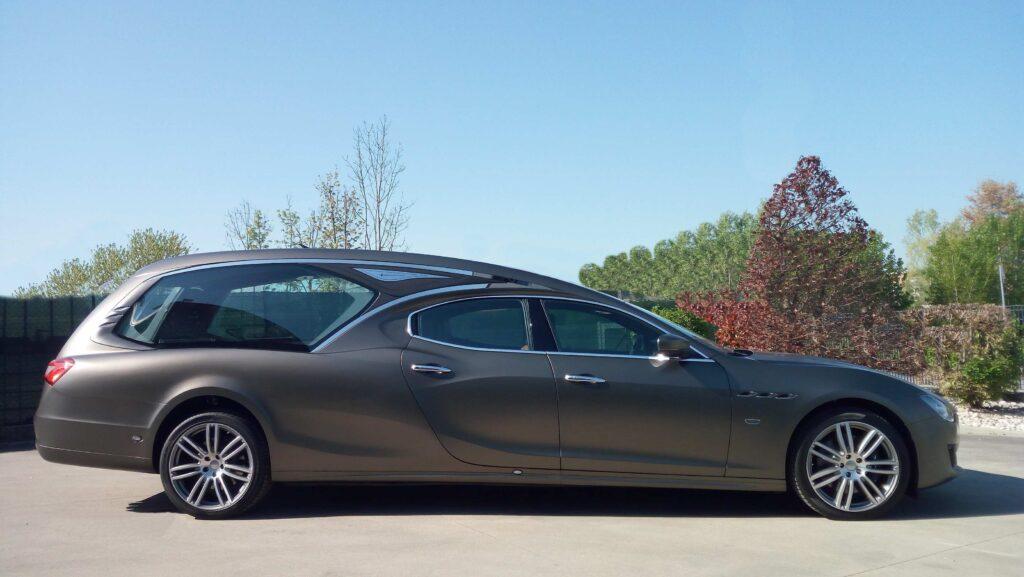 Vekal hearse on mechanical Maserati Ghibli