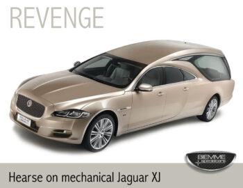 hearse on mechanical Jaguar XJ